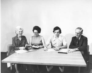 Primary view of object titled 'Officers of the Northeast Historical Society (1975-76)'.
