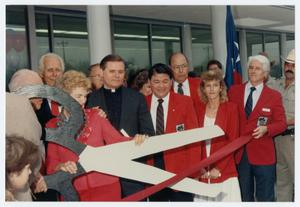 Primary view of object titled '[Ribbon Cutting at League City Post Office]'.