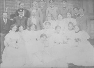 Primary view of object titled 'University of Ohio Graduating Class (1896)'.