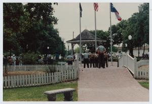 Primary view of object titled '[Americanism Day at League Park]'.