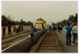 Primary view of object titled '[Arrival of the Texas Limited Train]'.