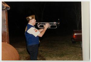 Primary view of object titled '[American Legion Trumpeter]'.