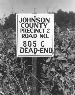 Primary view of object titled 'Johnson County Precinct 2 Road Sign'.