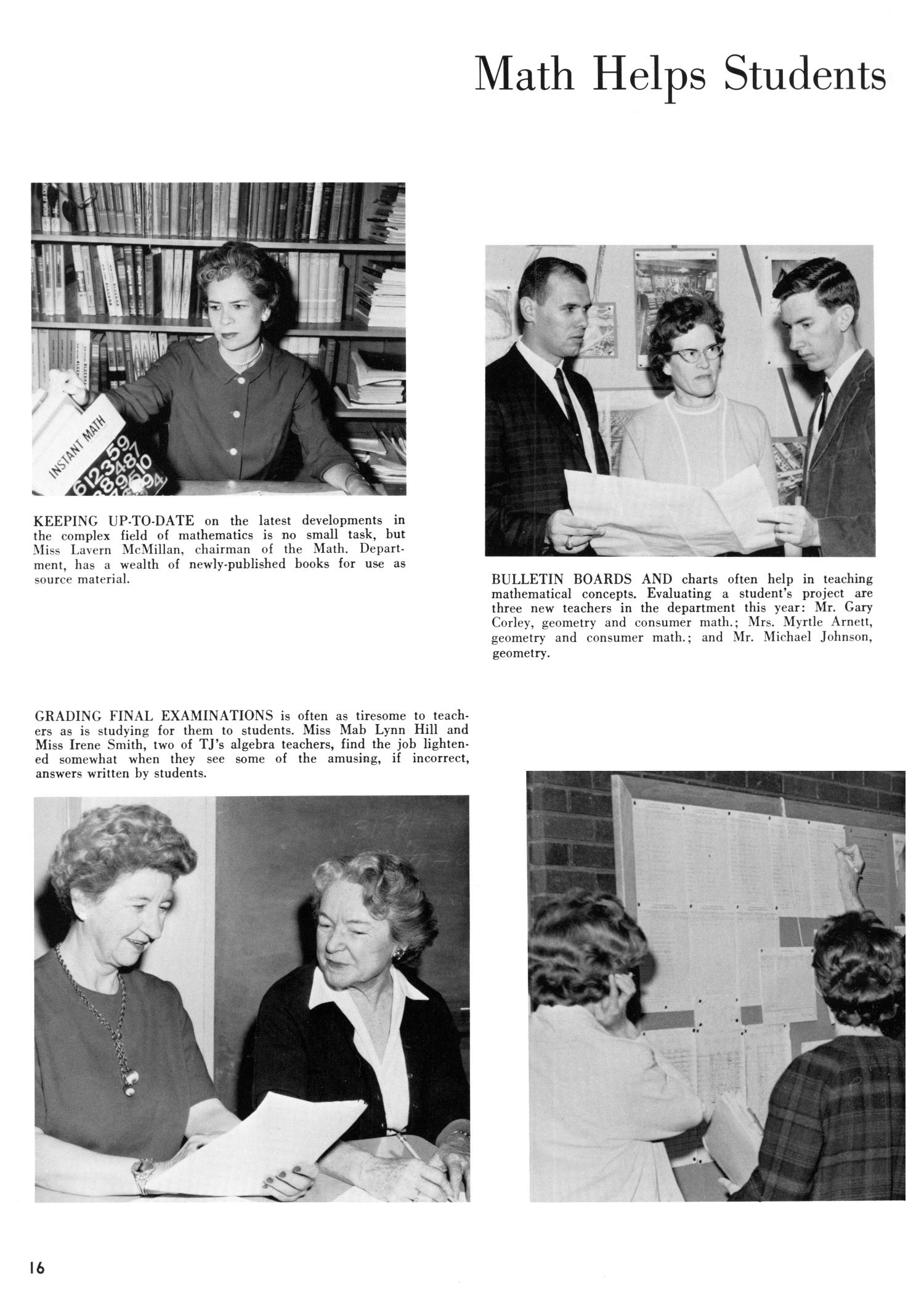 The Yellow Jacket, Yearbook of Thomas Jefferson High School, 1964                                                                                                      16