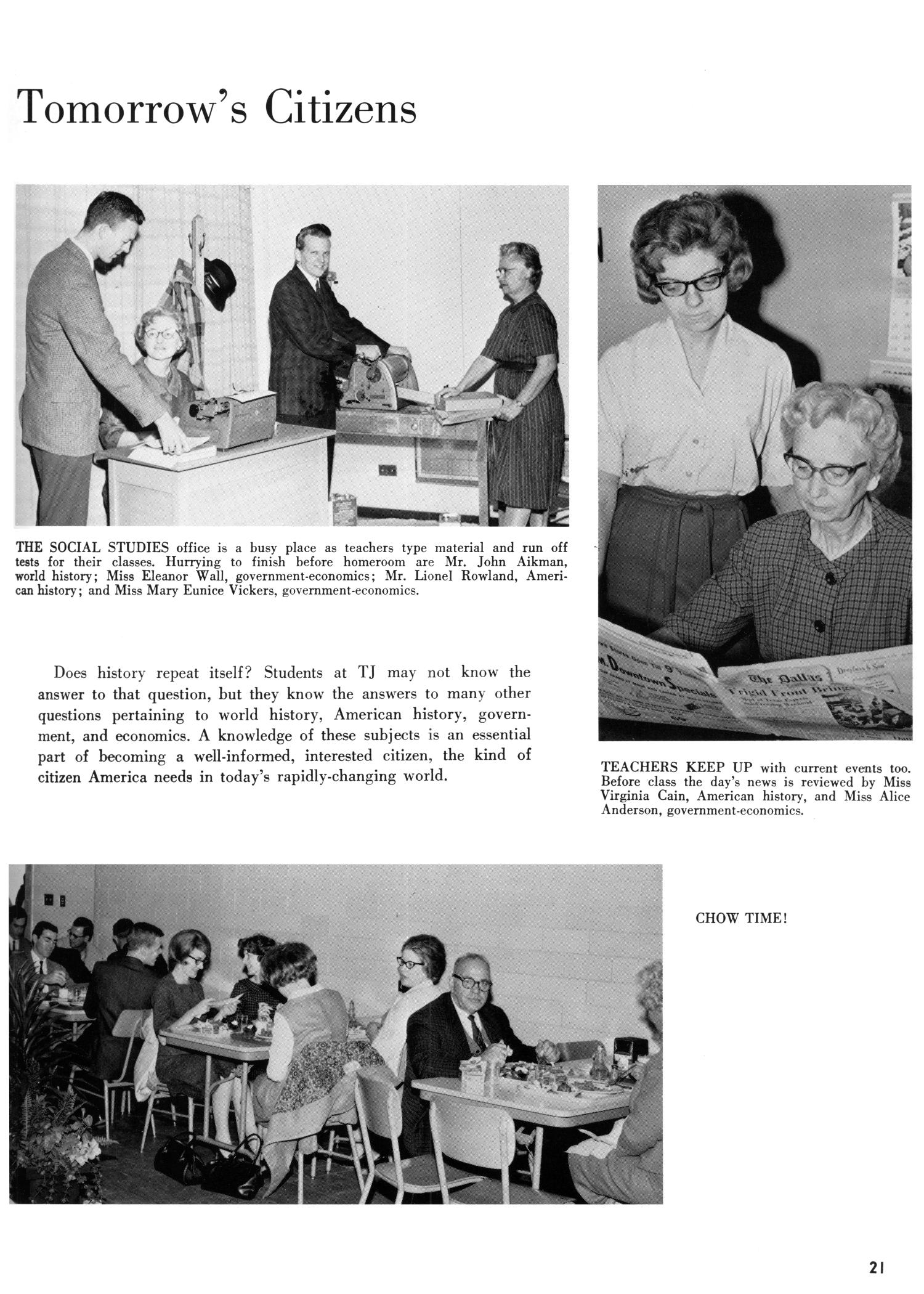 The Yellow Jacket, Yearbook of Thomas Jefferson High School, 1964                                                                                                      21