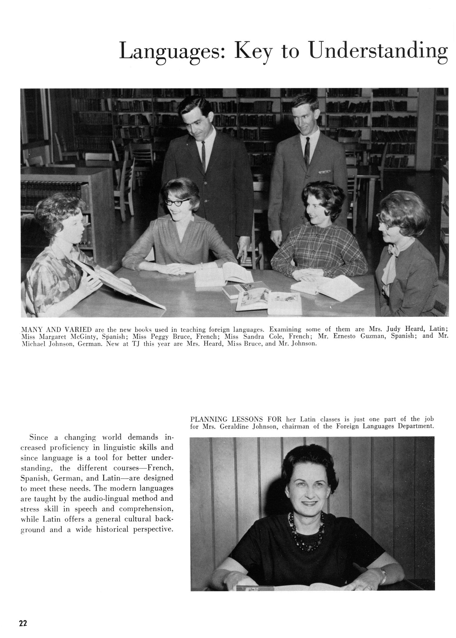 The Yellow Jacket, Yearbook of Thomas Jefferson High School, 1964                                                                                                      22