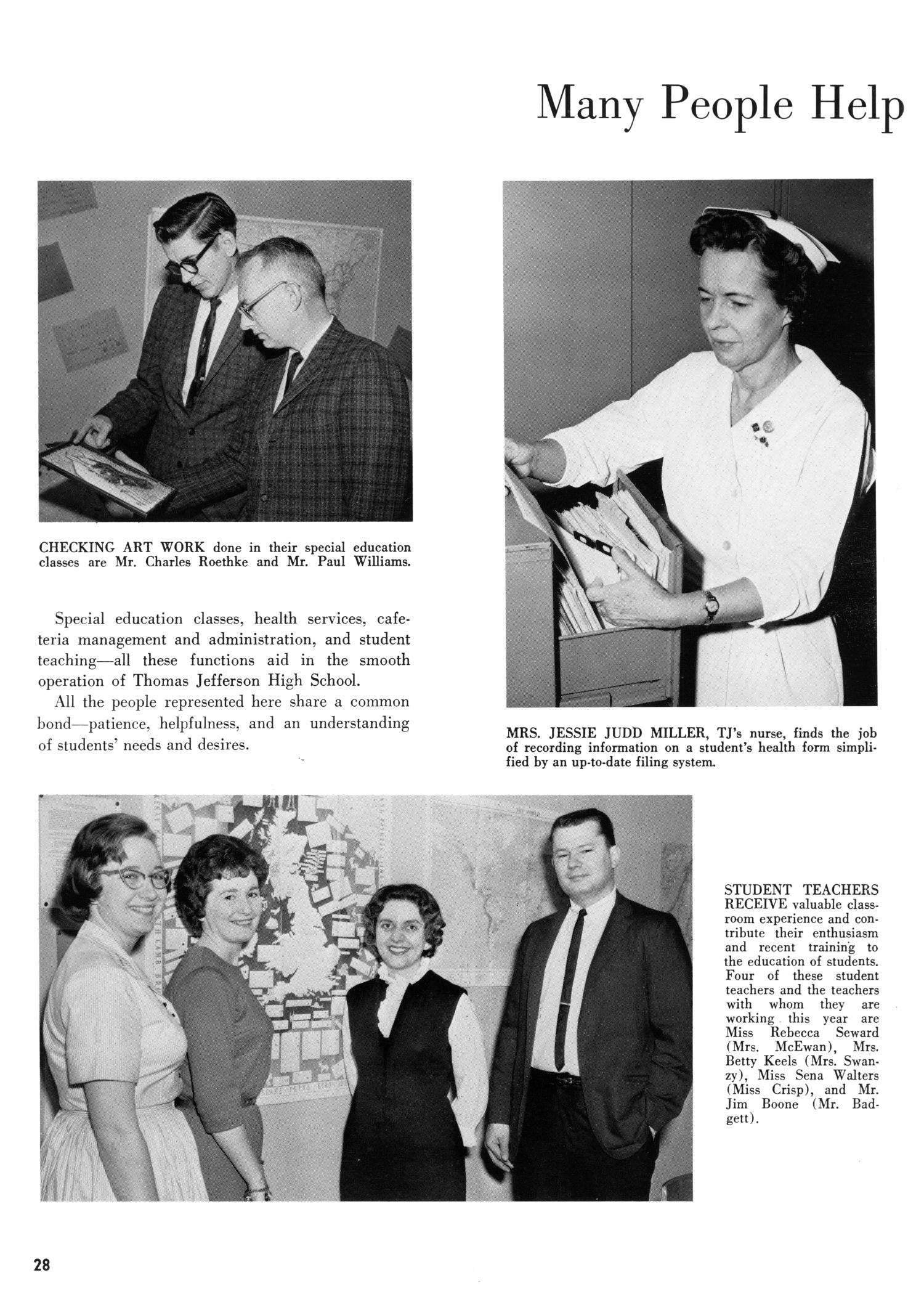 The Yellow Jacket, Yearbook of Thomas Jefferson High School, 1964                                                                                                      28