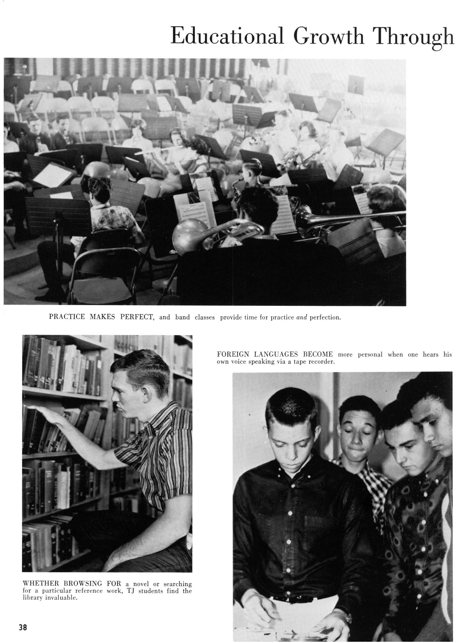 The Yellow Jacket, Yearbook of Thomas Jefferson High School, 1964                                                                                                      38