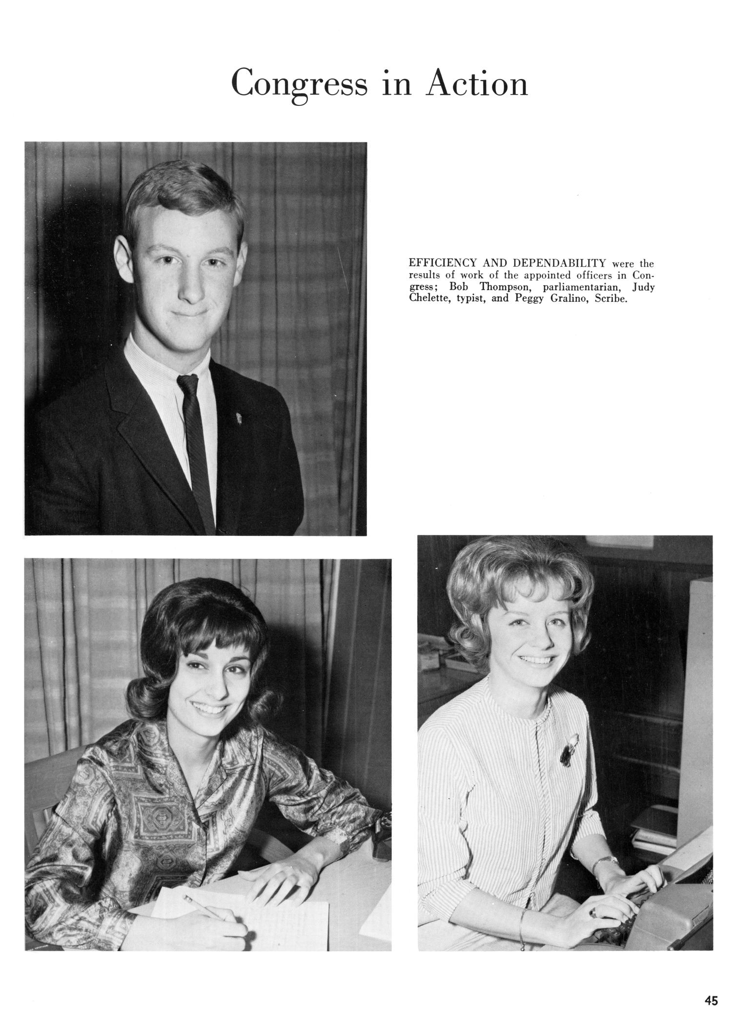 The Yellow Jacket, Yearbook of Thomas Jefferson High School, 1964                                                                                                      45