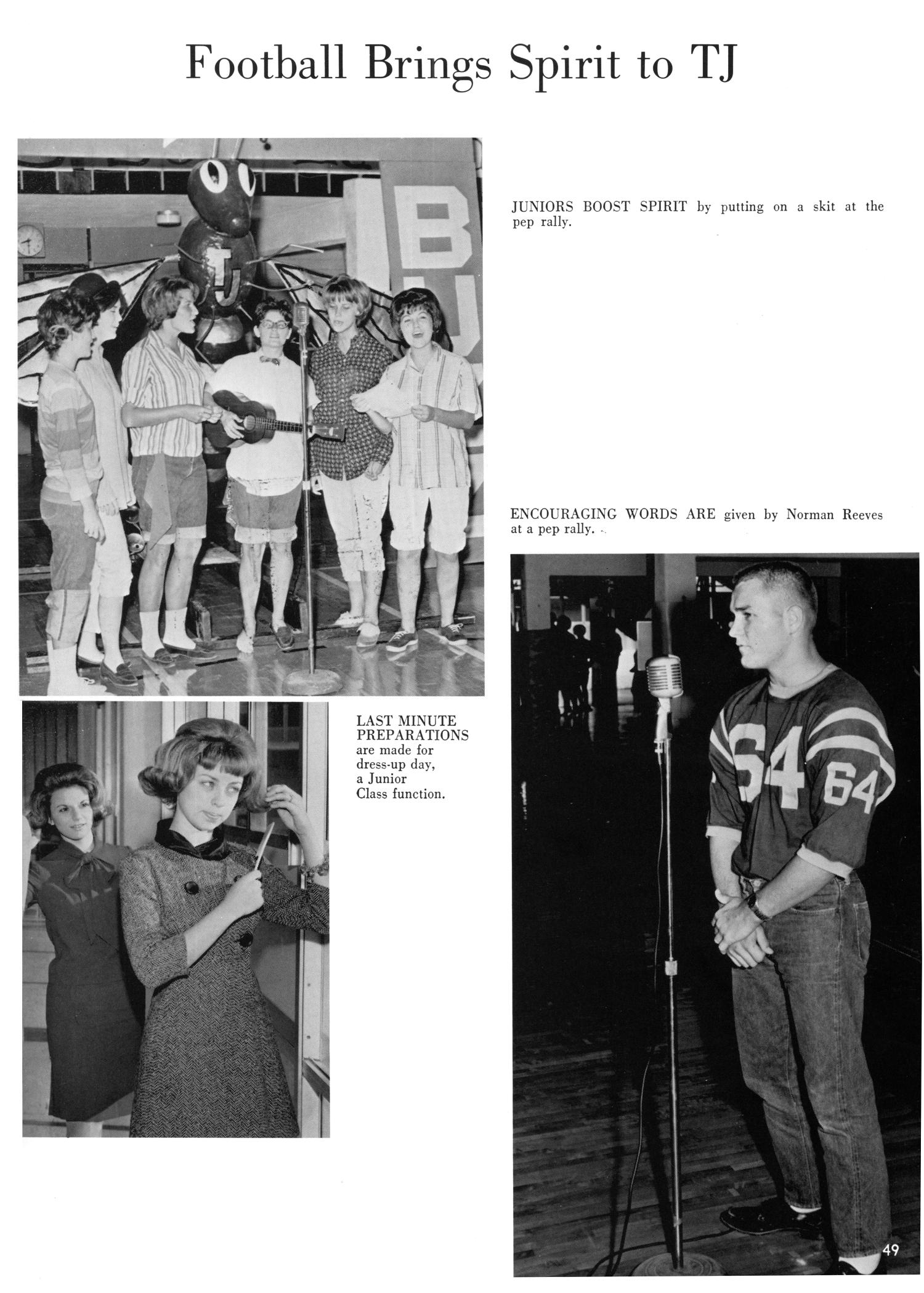 The Yellow Jacket, Yearbook of Thomas Jefferson High School, 1964                                                                                                      49