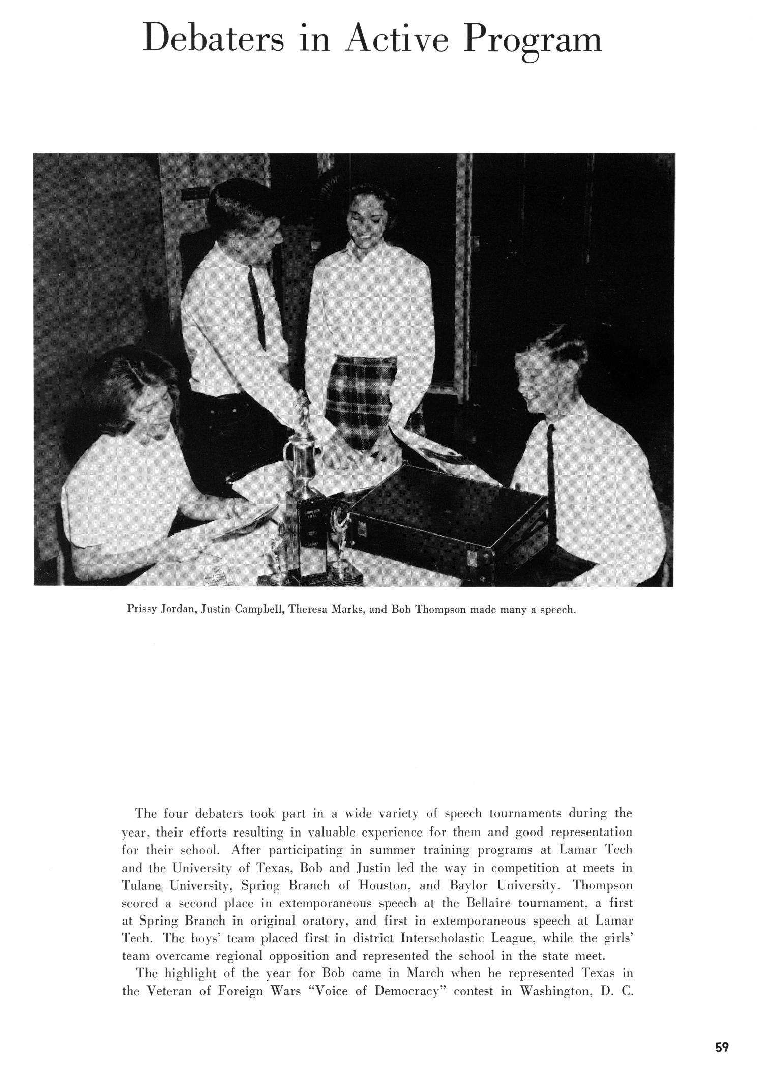 The Yellow Jacket, Yearbook of Thomas Jefferson High School, 1964                                                                                                      59