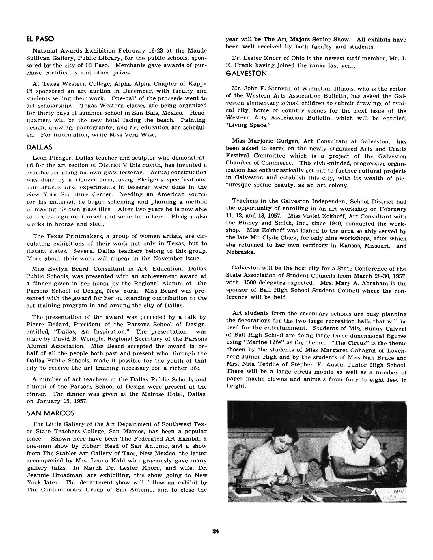 Western arts and crafts - Texas Trends In Art Education March 1957 Page 24