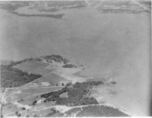Primary view of object titled '[Aerial Photograph of Lake Arlington]'.