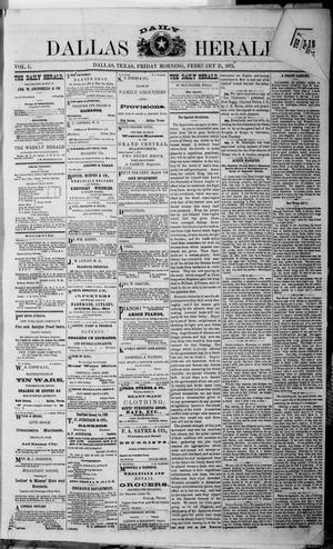 Primary view of object titled 'Dallas Daily Herald (Dallas, Tex.), Vol. 1, No. 10, Ed. 1 Friday, February 21, 1873'.
