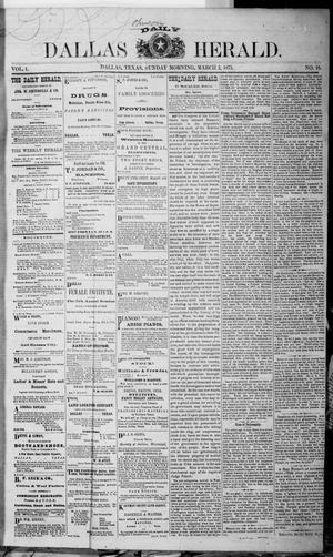 Dallas Daily Herald (Dallas, Tex.), Vol. 1, No. 18, Ed. 1 Sunday, March 2, 1873