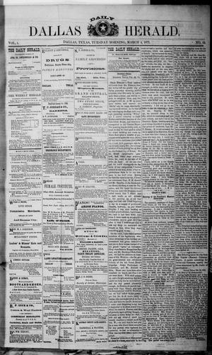 Primary view of object titled 'Dallas Daily Herald (Dallas, Tex.), Vol. 1, No. 19, Ed. 1 Tuesday, March 4, 1873'.