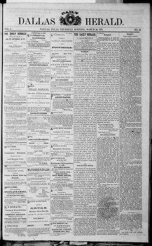 Primary view of object titled 'Dallas Daily Herald (Dallas, Tex.), Vol. 1, No. 33, Ed. 1 Thursday, March 20, 1873'.