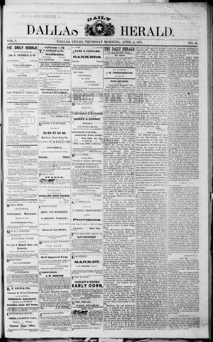 Primary view of object titled 'Dallas Daily Herald (Dallas, Tex.), Vol. 1, No. 45, Ed. 1 Thursday, April 3, 1873'.