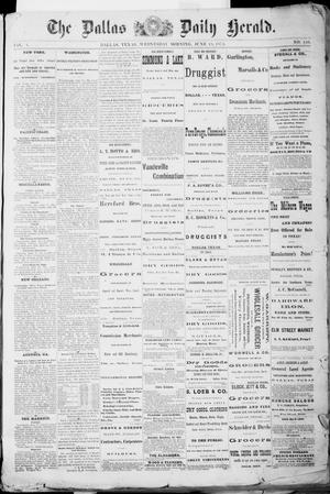 Primary view of object titled 'The Dallas Daily Herald. (Dallas, Tex.), Vol. 1, No. 110, Ed. 1 Wednesday, June 18, 1873'.
