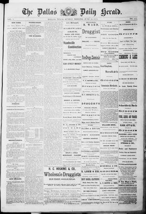 Primary view of object titled 'The Dallas Daily Herald. (Dallas, Tex.), Vol. 1, No. 114, Ed. 1 Sunday, June 22, 1873'.