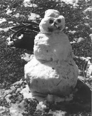 Primary view of object titled 'Snowman Built in Winter of 1976 in Hurst'.