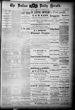 Primary view of object titled 'The Dallas Daily Herald. (Dallas, Tex.), Vol. 1, No. 225, Ed. 1 Friday, October 31, 1873'.