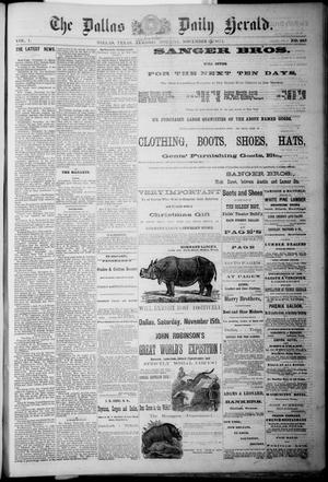 Primary view of object titled 'The Dallas Daily Herald. (Dallas, Tex.), Vol. 1, No. 235, Ed. 1 Wednesday, November 12, 1873'.