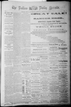 Primary view of object titled 'The Dallas Daily Herald. (Dallas, Tex.), Vol. 1, No. 253, Ed. 1 Wednesday, December 3, 1873'.