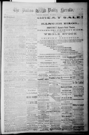 Primary view of object titled 'The Dallas Daily Herald. (Dallas, Tex.), Vol. 1, No. 272, Ed. 1 Thursday, December 25, 1873'.
