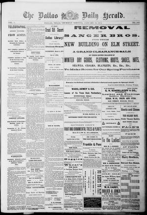 The Dallas Daily Herald. (Dallas, Tex.), Vol. 1, No. 289, Ed. 1 Thursday, January 15, 1874