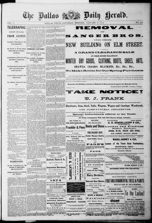 Primary view of object titled 'The Dallas Daily Herald. (Dallas, Tex.), Vol. 1, No. 291, Ed. 1 Saturday, January 17, 1874'.