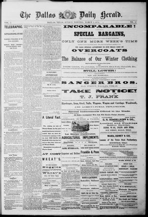 Primary view of object titled 'The Dallas Daily Herald. (Dallas, Tex.), Vol. 2, No. 17, Ed. 1 Sunday, March 1, 1874'.