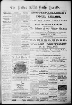 Primary view of object titled 'The Dallas Daily Herald. (Dallas, Tex.), Vol. 2, No. 20, Ed. 1 Thursday, March 5, 1874'.