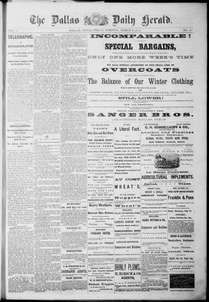 Primary view of object titled 'The Dallas Daily Herald. (Dallas, Tex.), Vol. 2, No. 21, Ed. 1 Friday, March 6, 1874'.