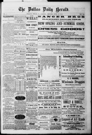 Primary view of The Dallas Daily Herald. (Dallas, Tex.), Vol. 2, No. 103, Ed. 1 Wednesday, June 10, 1874