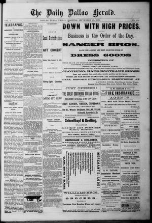 Primary view of object titled 'The Dallas Daily Herald. (Dallas, Tex.), Vol. 2, No. 194, Ed. 1 Friday, September 25, 1874'.