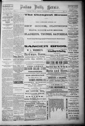 Primary view of object titled 'Dallas Daily Herald. (Dallas, Tex.), Vol. 2, No. 242, Ed. 1 Friday, November 20, 1874'.