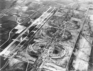[Aerial Photograph of Dallas-Fort Worth Regional Airport Under Construction]