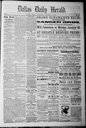 Primary view of Dallas Daily Herald. (Dallas, Tex.), Vol. 2, No. 298, Ed. 1 Wednesday, January 27, 1875