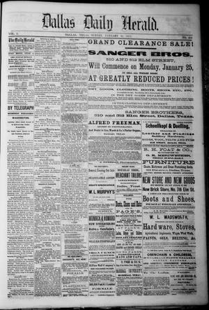 Primary view of object titled 'Dallas Daily Herald. (Dallas, Tex.), Vol. 2, No. 302, Ed. 1 Sunday, January 31, 1875'.