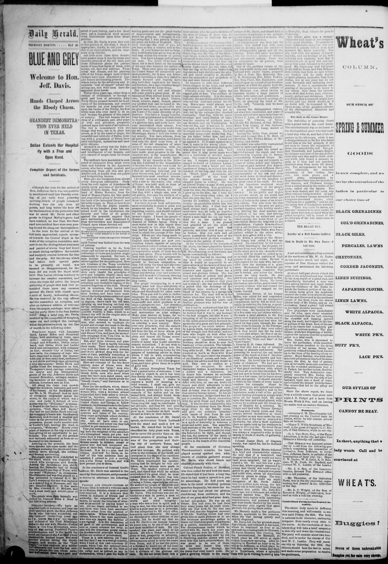 The Dallas Daily Herald  (Dallas, Tex ), Vol  3, No  83, Ed