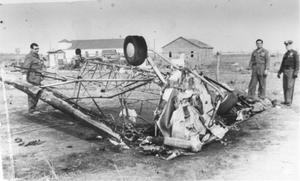Primary view of object titled 'Airplane Crash Near Stalcup Road and Rosedale'.
