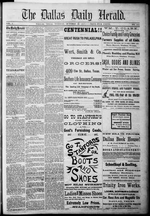 Primary view of The Dallas Daily Herald. (Dallas, Tex.), Vol. 3, No. 212, Ed. 1 Tuesday, October 19, 1875