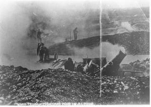 Primary view of object titled 'French Troops Firing Mortars in World War I'.