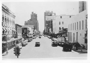 Primary view of object titled 'Looking South on Main Street from the Courthouse in 1949'.