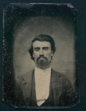 Primary view of object titled '[Portrait of Unidentified Man]'.