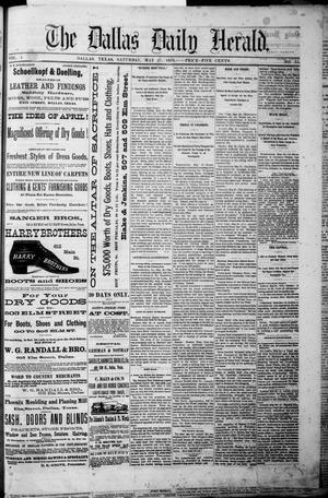 Primary view of object titled 'The Dallas Daily Herald. (Dallas, Tex.), Vol. 4, No. 93, Ed. 1 Saturday, May 27, 1876'.