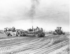 Primary view of object titled 'Earthmoving Equipment on Road Construction'.