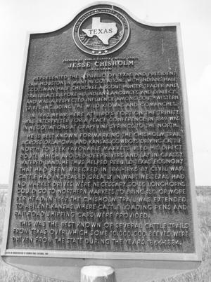 Primary view of object titled 'Jesse Chisholm Texas Historical Marker'.