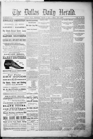 Primary view of object titled 'The Dallas Daily Herald. (Dallas, Tex.), Vol. 4, No. 155, Ed. 1 Wednesday, August 9, 1876'.